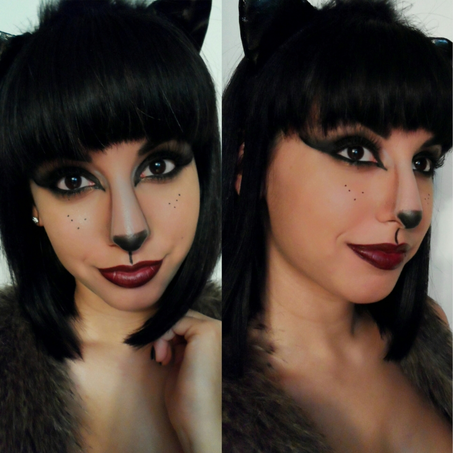 cat face for halloween - the girl with bangs