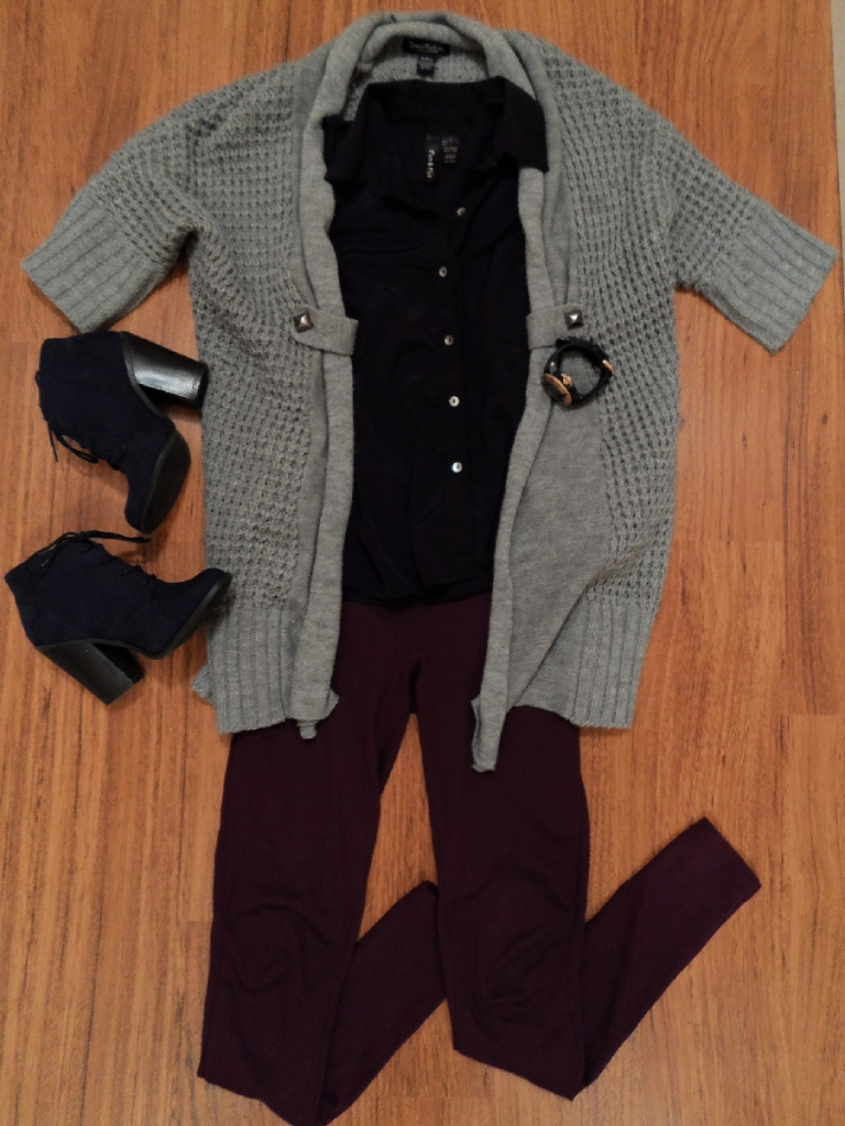 OOTD cardigan ft. booties