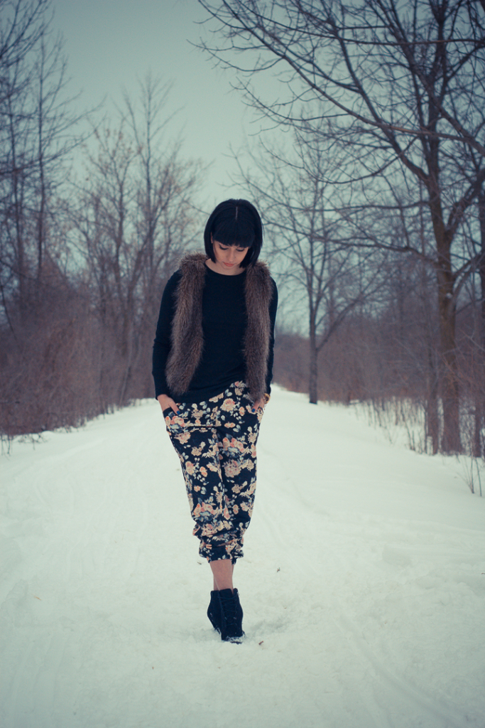 How to wear floral in winter_2