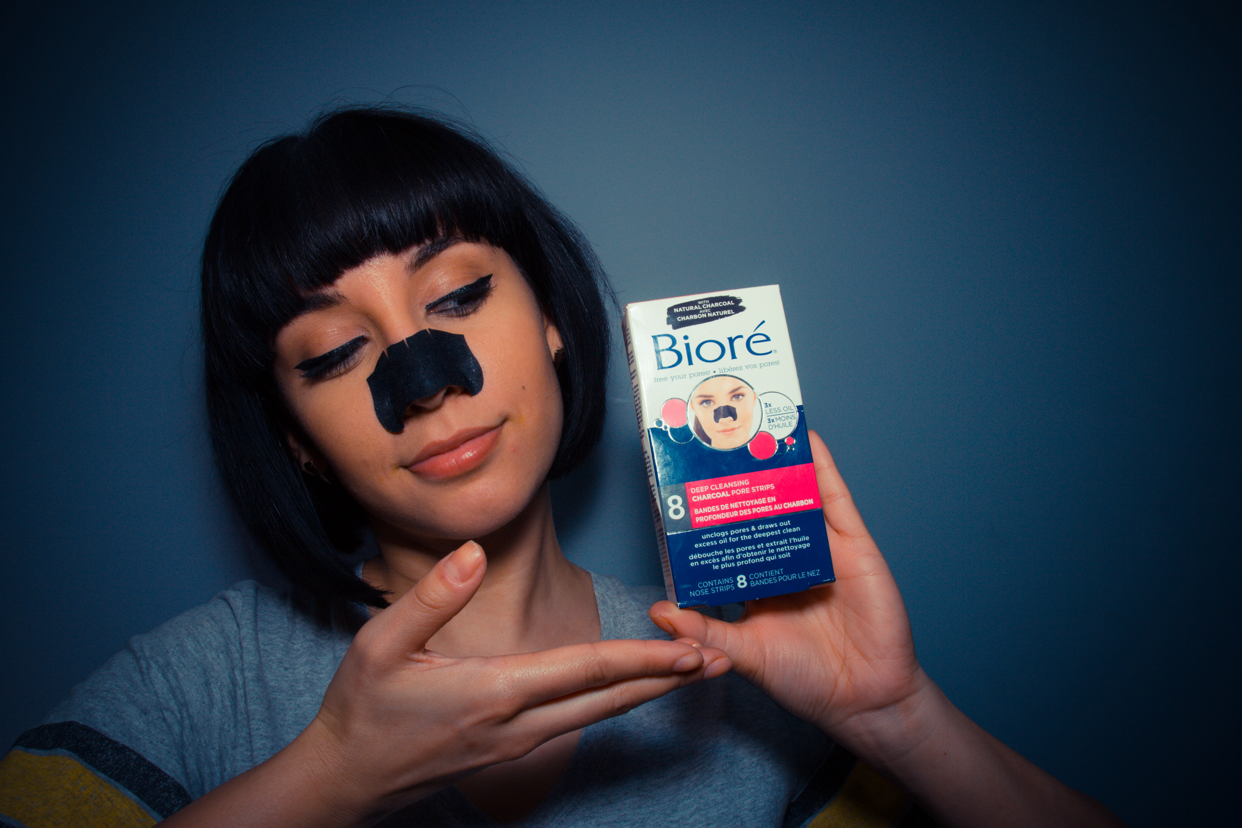 LET'S TALK BIORÉ CHARCOAL PORE STRIPS - The Girl With Bangs