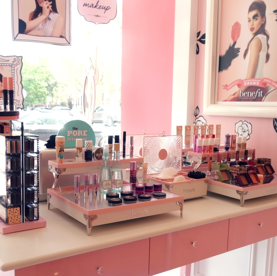 Toronto Benefit Boutique Makeup Display