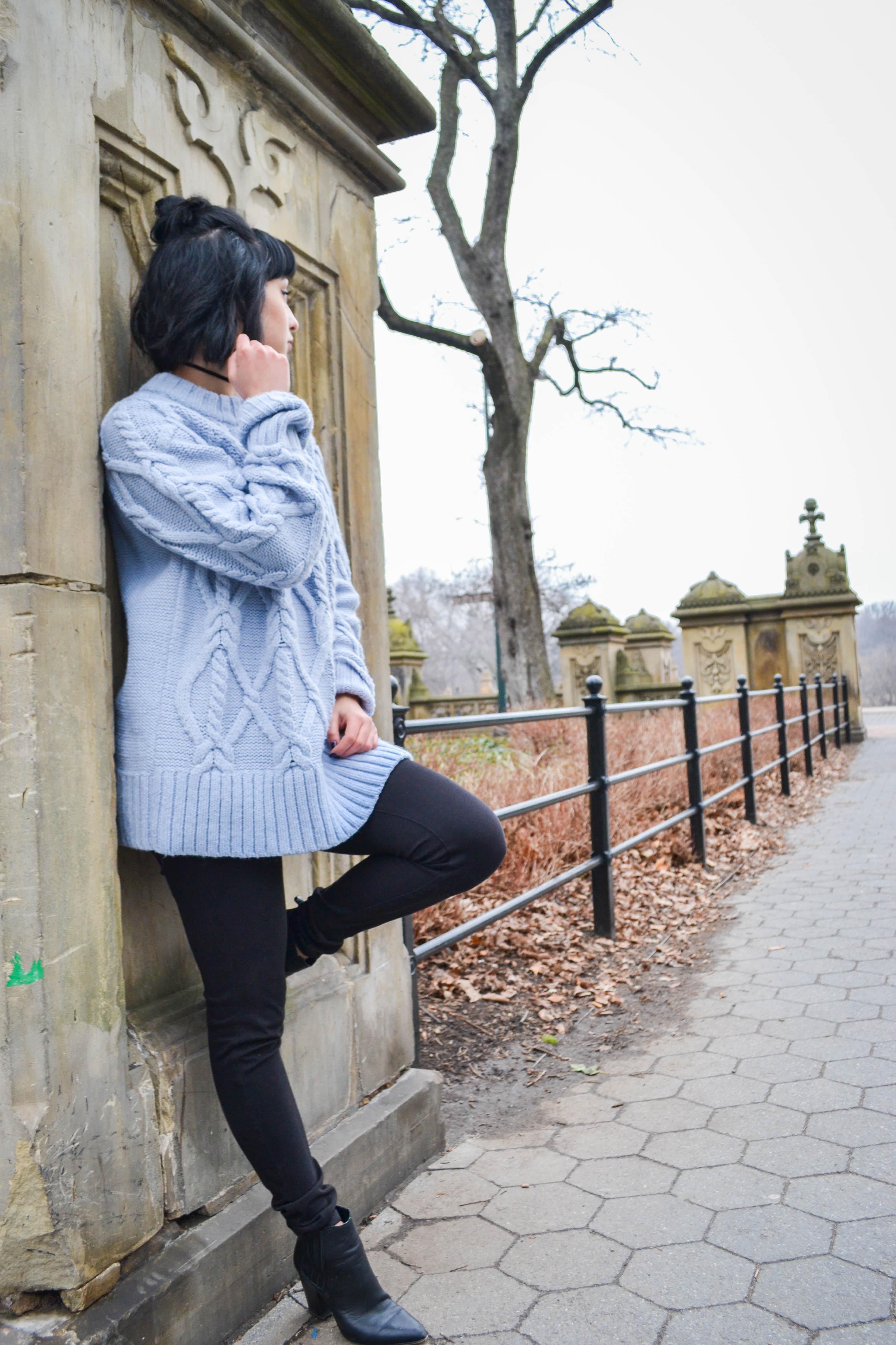 winter sweater ootd